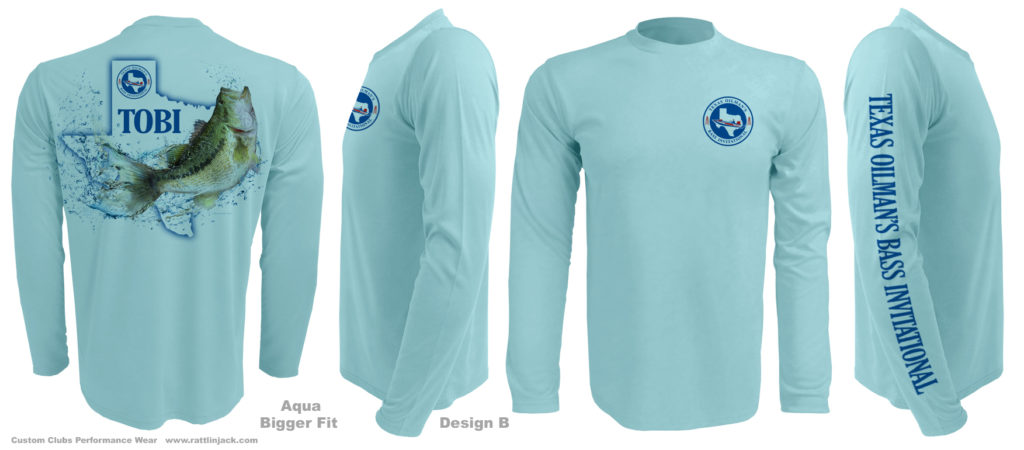 Rattlin Jack™ Fishins In My Bones™ Performance Wear Moisture Wicking UPF 50, Cool and Dry Sun Protection